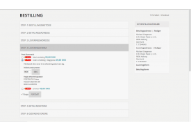 Ved checkout på Magento webshoppen vises det Post Danmark afhentningssted, som kunden har valgt.