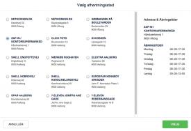 GLS PakkeShop integrationen til Magento er responsive i frontend