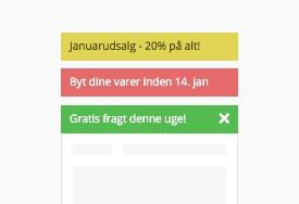 Notifikationsbar Plus med multistyring