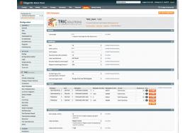 I Magento administrationen indstiller du integrationen med DAO distribution. Fragtsatser til din Magento webshop oprettes samme sted.