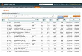 Magento lagerrapport - rapporten kan gemmes i CSV- eller XML-format