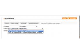 Modulet til Magento kan flytte produkter fra en kategori til en anden