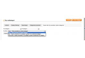 Modulet til Magento kan knytte produkter til en ekstra kategori