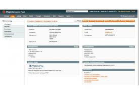 Simpel MobilePay betaling - modulet viser tydeligt, at ordren er lagt med MobilePay