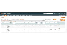 Ordrer med DAO valgt som leveringsform i Magento webshoppen. I ordreoversigten kan du lave DAO labels via handlinger.