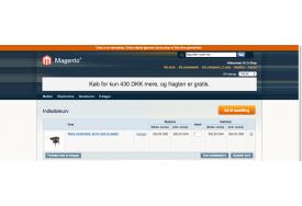 Magentomodulet Gratis Fragt Info tæller ned til grænse for fri fragt