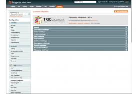 e-conomic modulet fra TRIC Solutions giver rig mulighed for at indstille overførsel af ordrer, faktura, kreditnota, synkronisering af lager, gebyrer mv.