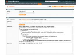 Modulet Returvarer installerer en e-mailskabelon, som du let kan tilpasse, hvis du har ønsker om ændringer.