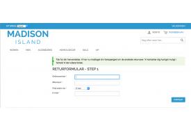 Efter indsendelse af formularen, får kunden en bekræftelse på skærmen, og en e-mail afsendes.