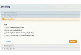 GLS PakkeShop integrationen til Magento håndterer flere GLS metoder